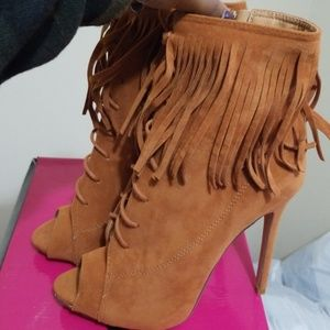 Liliana Shoes - Fringe Booties